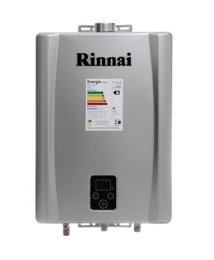 Aquecedor a Gás E17 Prata - 17 litros - Rinnai