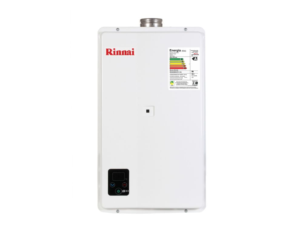 Aquecedor a Gás E33 - 32,5 litros - Rinnai