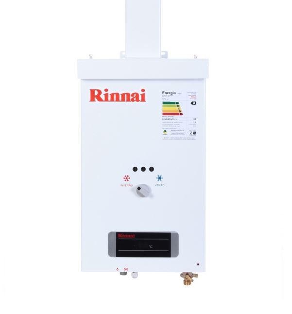 Aquecedor a Gás REU-73 BR - 7,5 litros - Rinnai