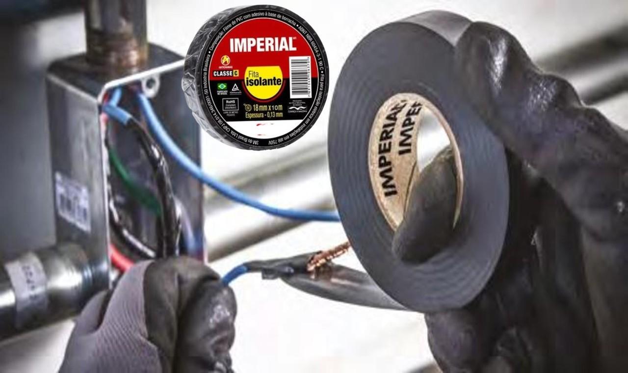 10 Fita Isolante 3m Imperial 18 x 10 Metros  - Rea Comércio - Sua Loja Completa!