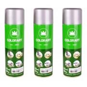 3 Tinta Spray Uso Geral Alumínio Opalescente Colorart