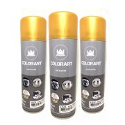 3 Tintas Spray Cores Metálicas Colorart Ouro Velho