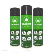 3 Tintas Spray Uso Geral Colorart Preto Brilhante