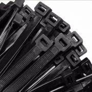 Abraçadeira Nylon Preta 100 Unidades 4,9 X 280 mm