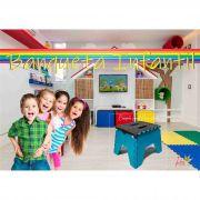 Banco Banqueta de Plástico Dobrável Infantil Aquila 525