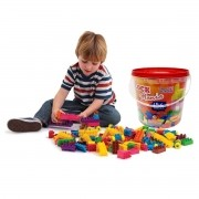 Blocos De Montar Infantil Brinquedo Educativo Didático de 156 Peças