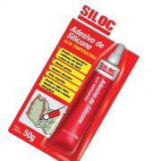 Cola Silicone Vermelho Alta temperatura Silioc 50g