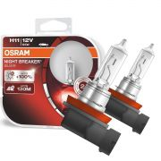 Lampada Farol Carro Osram Night Breaker Silver Par H11 100% + Luz 3.200k