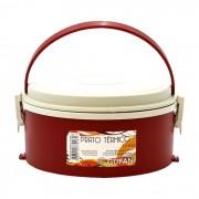 Marmita Térmica S/ Divisória Com Alça Dobrável 1,5l Vermelha