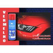 Tinta Spray Colorart Vermelho Metálica