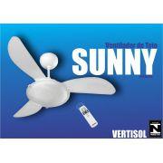 Ventilador de Teto Sunny 3 Pás 3 Velocidades com Controle -