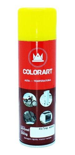 Tinta Spray Alta Temperatura Colorart Amarelo  - Rea Comércio - Sua Loja Completa!