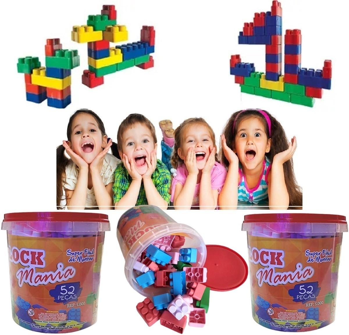 3 Blocos De Montar Infantil Brinquedo Educativo 52 Peças Lego  - Rea Comércio - Sua Loja Completa!