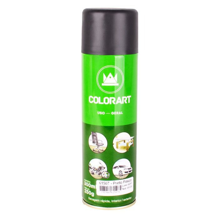 3 Tintas Spray Uso Geral Colorart Preto Brilhante  - Rea Comércio - Sua Loja Completa!