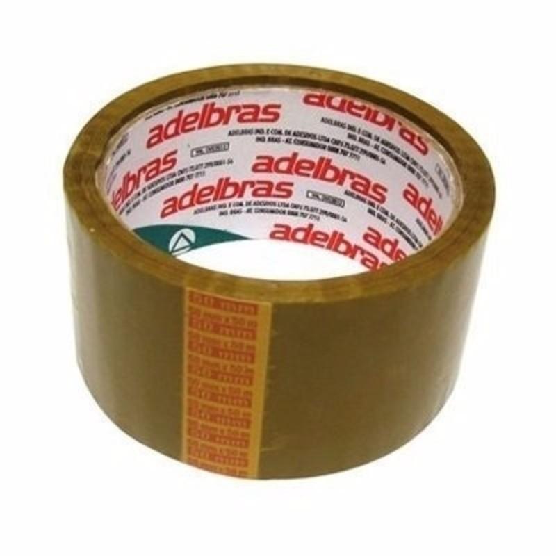 4 Fita Embalagem Adelbras Marrom Rolos De 48mm X 45m  - Rea Comércio - Sua Loja Completa!