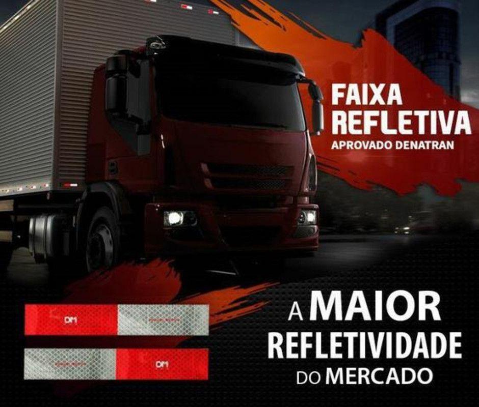 80 Faixa Refletiva Lateral Dm Caminhão Ônibus Carreta Carretinha Vans Tanque  - Rea Comércio - Sua Loja Completa!