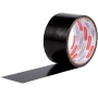3 Fita Adesiva Silver Tape Preta Reforçada 48mm X 5m Preto Adelbras