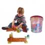 Blocos De Montar Infantil Brinquedo Educativo Didático de 156 Peças Legais