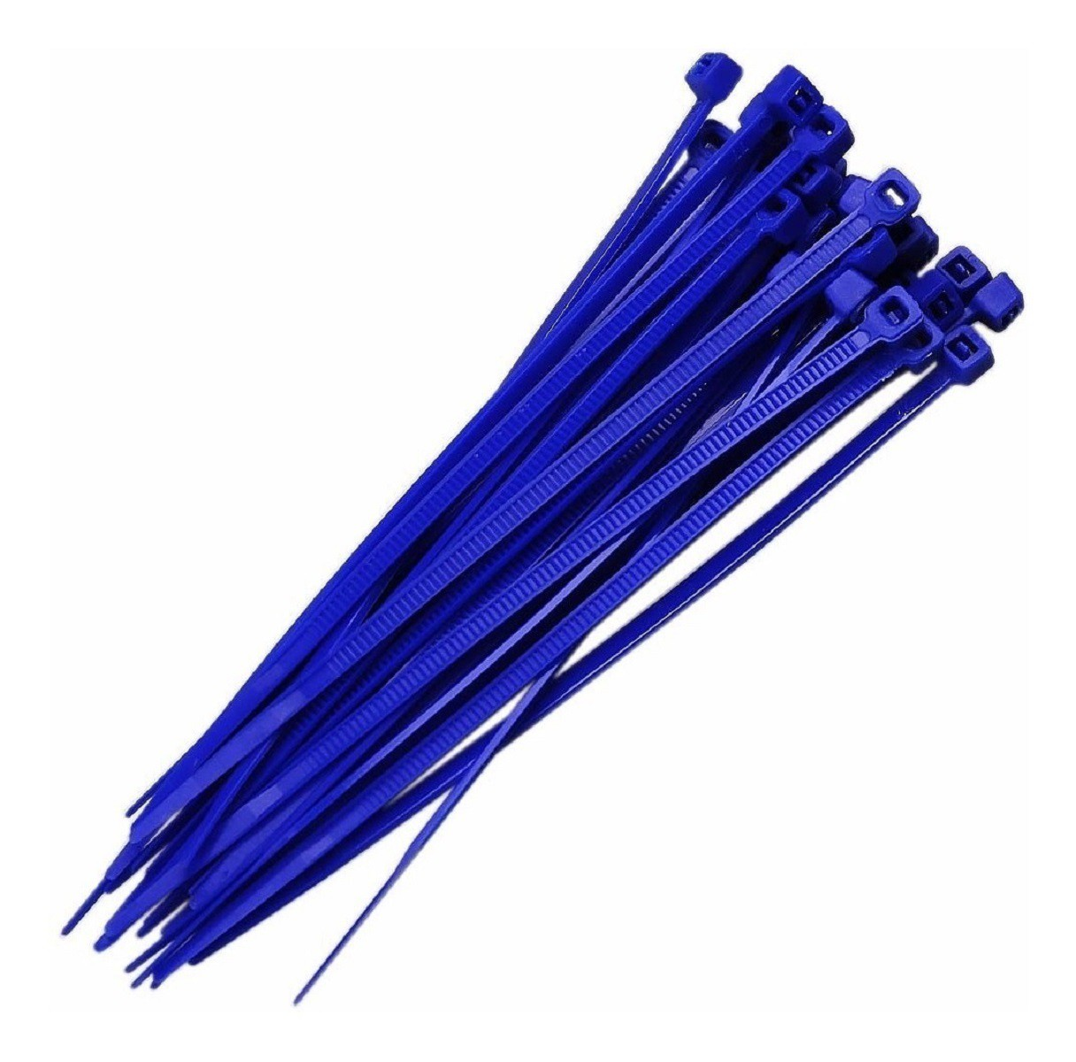 Abraçadeira Nylon Azul 100 Unidades 2,5 X 200 mm  - Rea Comércio - Sua Loja Completa!