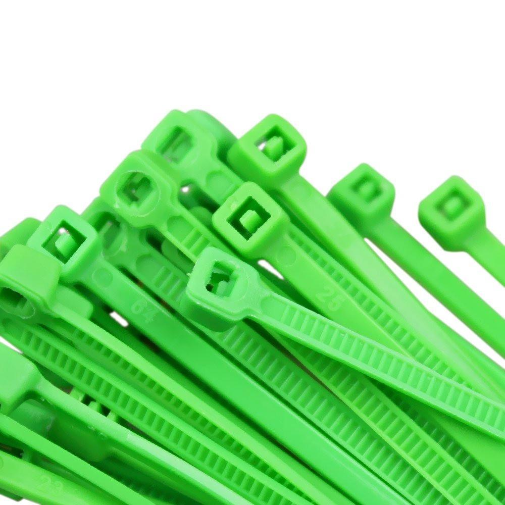 Abraçadeira Nylon Verde 100 Unidades 2,5 X 100 mm  - Rea Comércio - Sua Loja Completa!