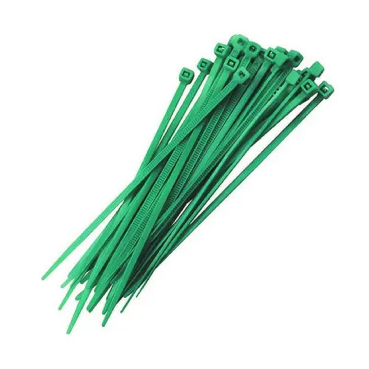 Abraçadeira Nylon Verde 100 Unidades 2,5 X 200 mm  - Rea Comércio - Sua Loja Completa!