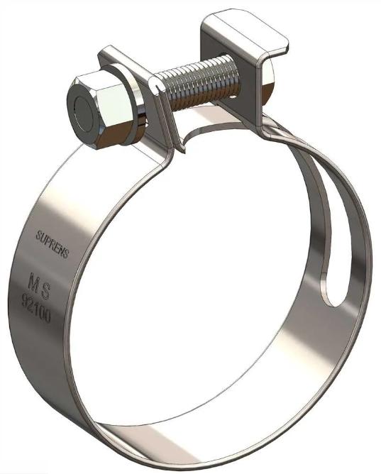 Abraçadeira Reforçada para Mangote Aço MS   - Rea Comércio - Sua Loja Completa!