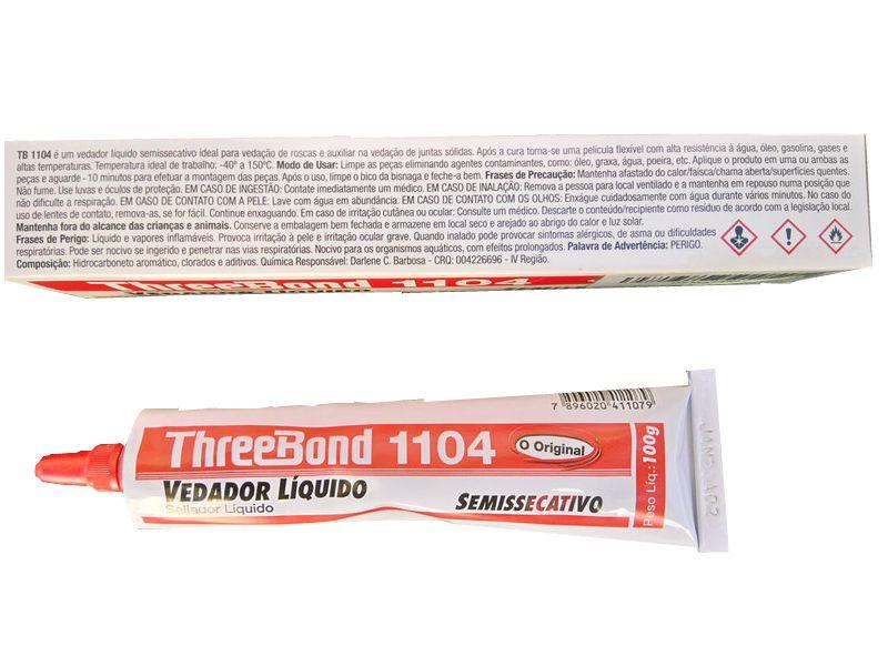 Adesivo Semi Secativo 1104 Branco 100g Three Bond  - Rea Comércio - Sua Loja Completa!