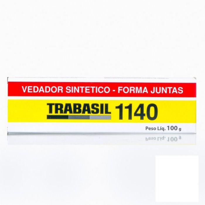 Adesivo Semi Secativo 1140 Branco 100g Trabasil  - Rea Comércio - Sua Loja Completa!