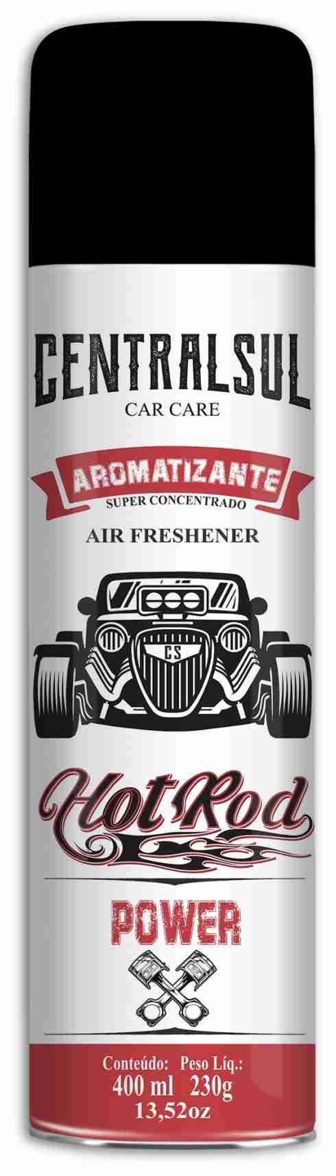 Aromatizante Hot Rod Aerossol Power 400ml Centralsul  - Rea Comércio - Sua Loja Completa!