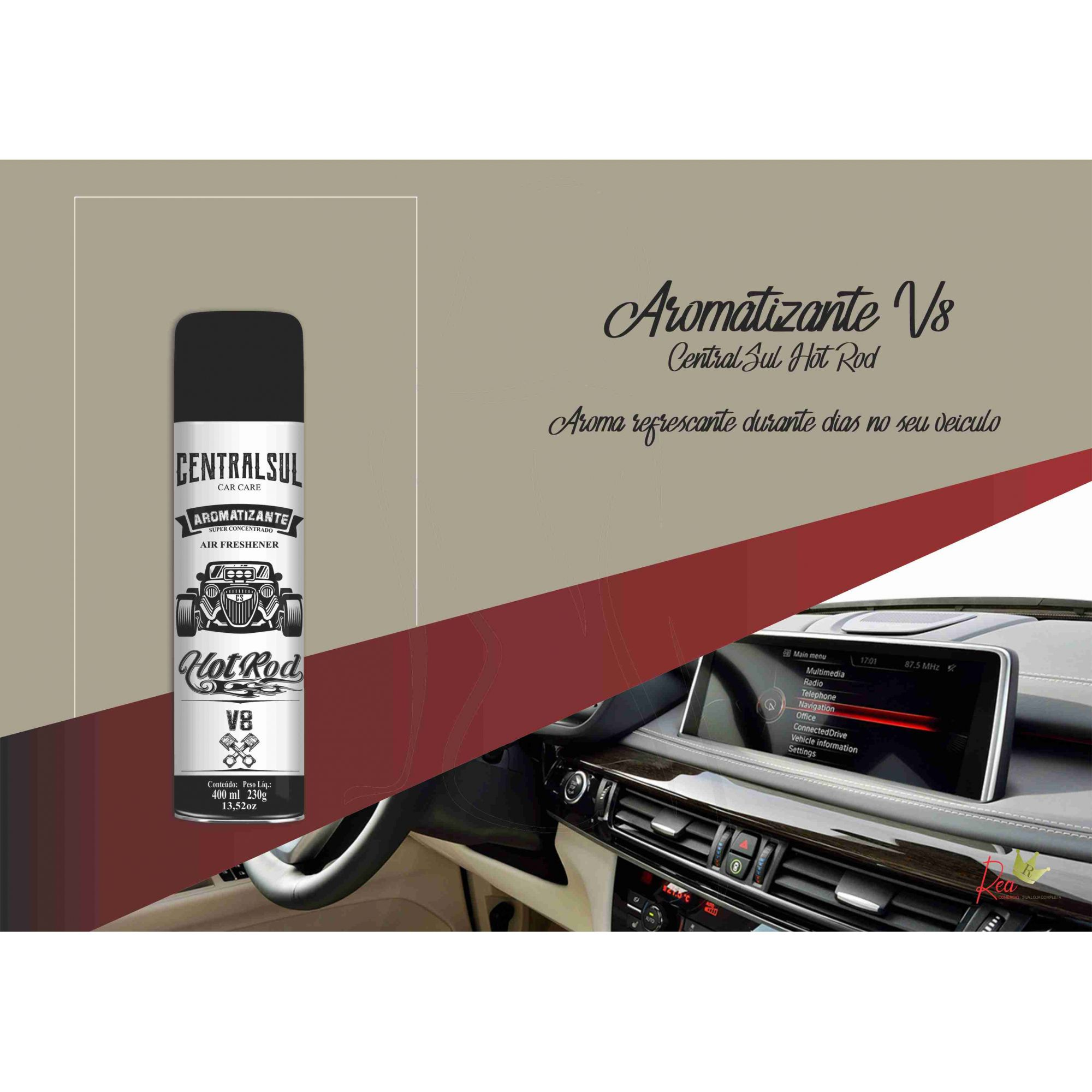 Aromatizante Hot Rod V8 Aerossol 400ml Centralsul