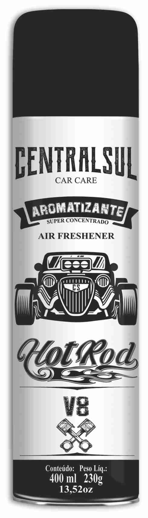 Aromatizante  Hot Rod V8 + Limpa Estofados   - Rea Comércio - Sua Loja Completa!