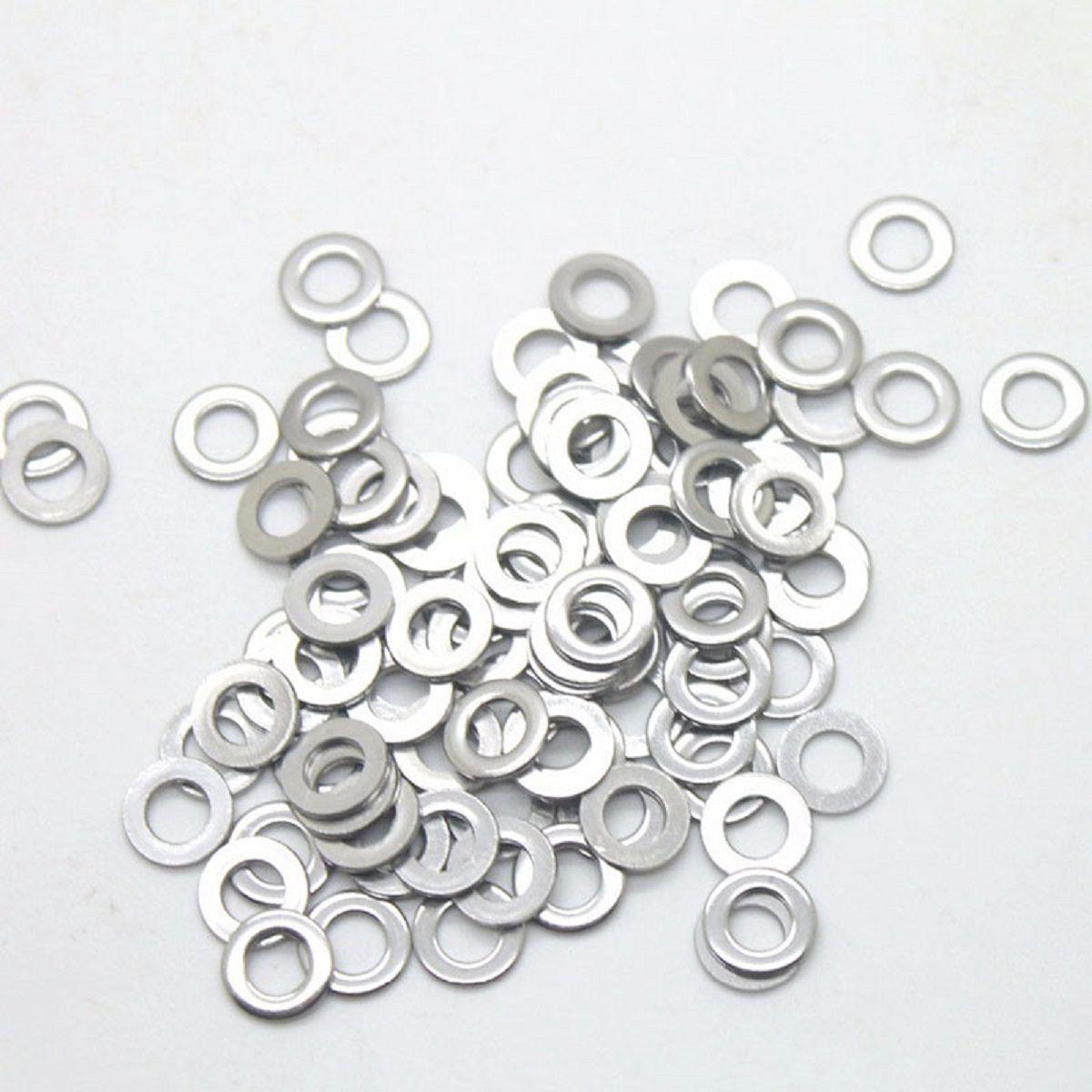 Arruela Anel Vedação Alumínio 20 x 24 x 1,5 ( Pacote C/100 P  - Rea Comércio - Sua Loja Completa!