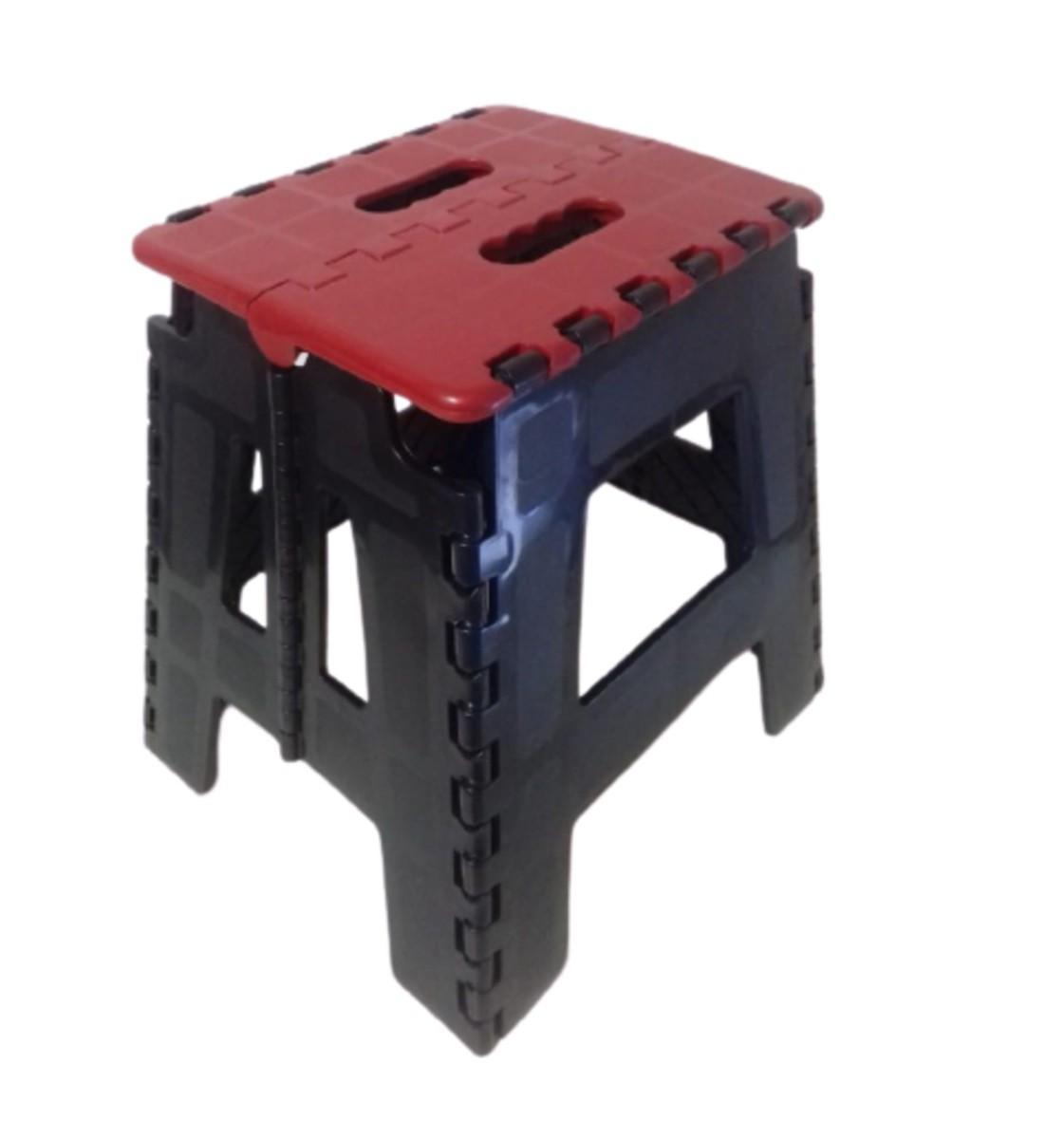 Banco Banqueta Dobrável Plastico Cadeira Praia Aquila Vermelha  - Rea Comércio - Sua Loja Completa!
