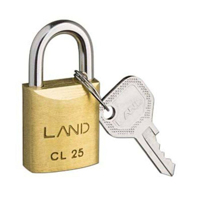 Cadeado Land 25mm Latao