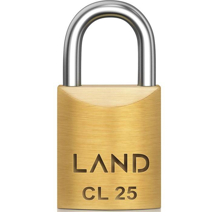 Cadeado Land 25mm Latao  - Rea Comércio - Sua Loja Completa!