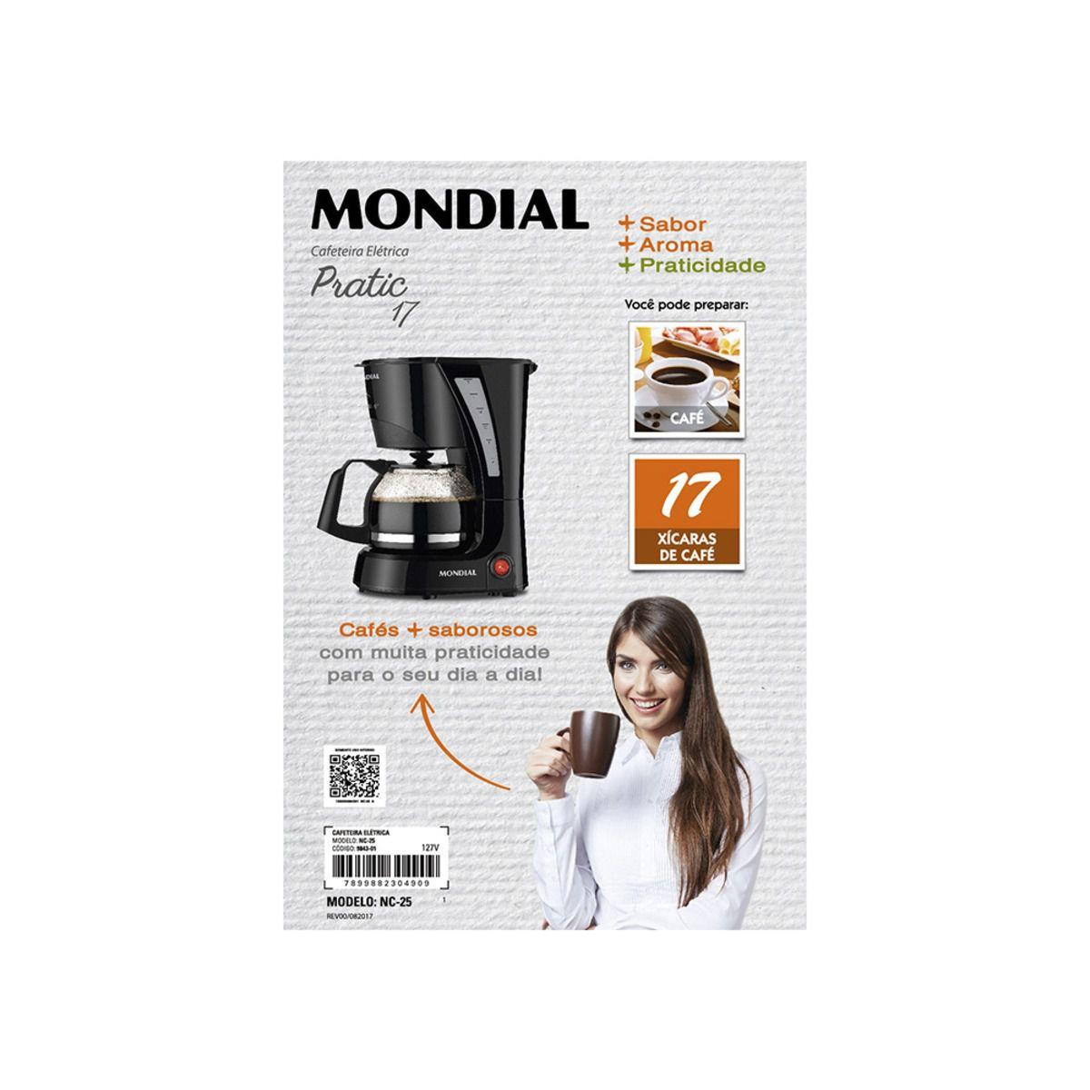 CAFETEIRA MONDIAL PRATIC 17 127 Nc-25  - Rea Comércio - Sua Loja Completa!