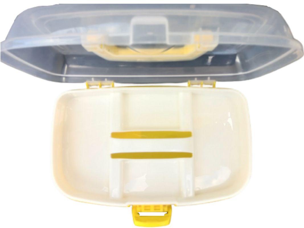 Caixa Box Multiuso C/divisória Manicure Remédio Acessórios Bijuterias Joias  - Rea Comércio - Sua Loja Completa!