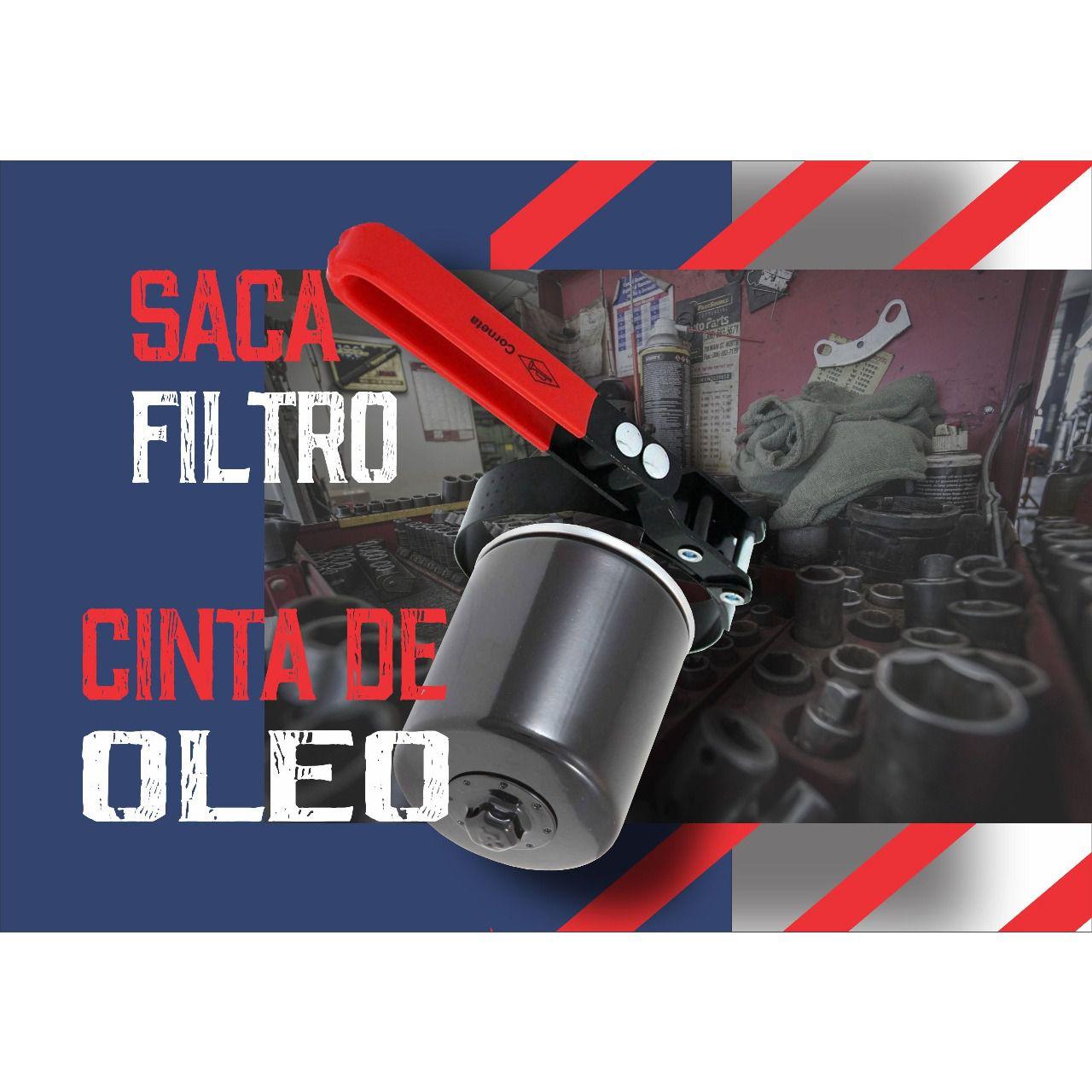 Chave Saca Filtro Cinta De Óleo 95 x 110mm Corneta Nº4  - Rea Comércio - Sua Loja Completa!
