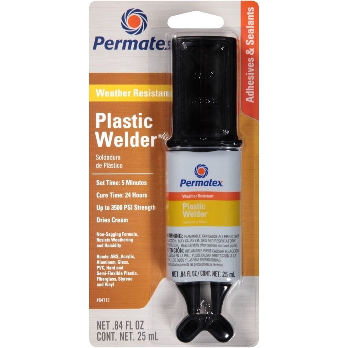 Cola Solda Plástico Vidro Vinil Aço Abs PVC Fibra de Vidro Acrílico Madeira Permatex Transparente 25ML  - Rea Comércio - Sua Loja Completa!