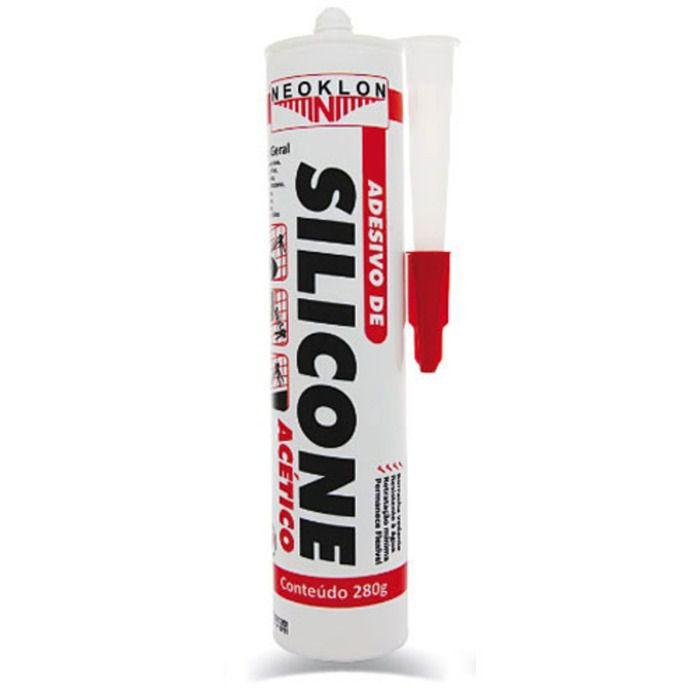 Cola Silicone Acético Transparente Uso Geral 280g