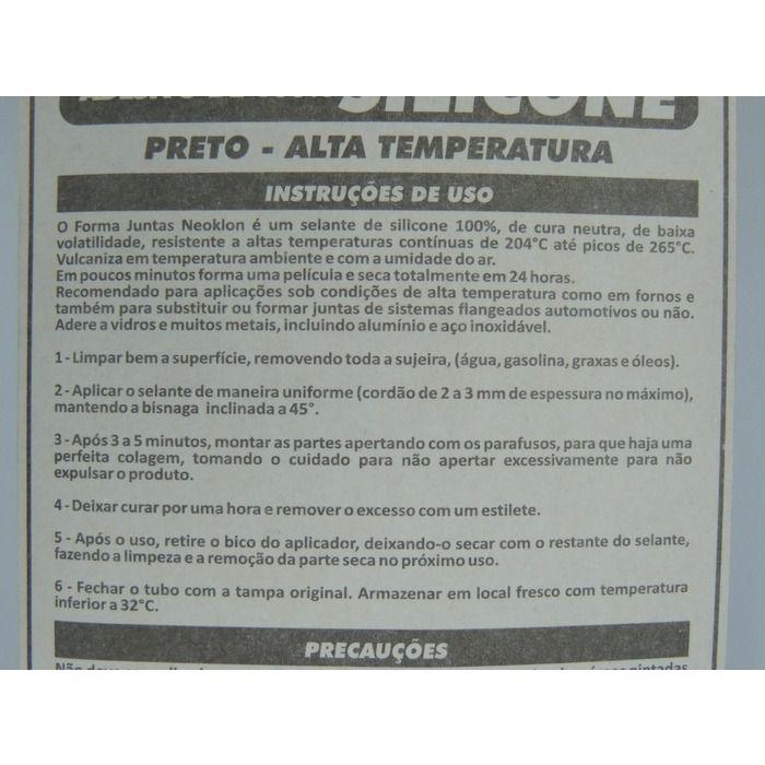 Cola Silicone Motor Alta Temperatura Acético Preto 50g  - Rea Comércio - Sua Loja Completa!