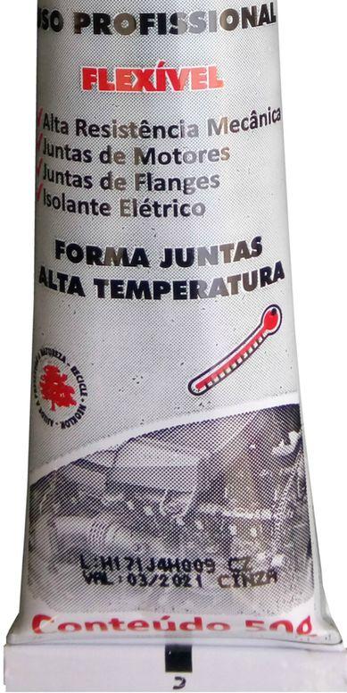Cola Silicone Motor Alta Temperatura Neutro Cinza 50g  - Rea Comércio - Sua Loja Completa!