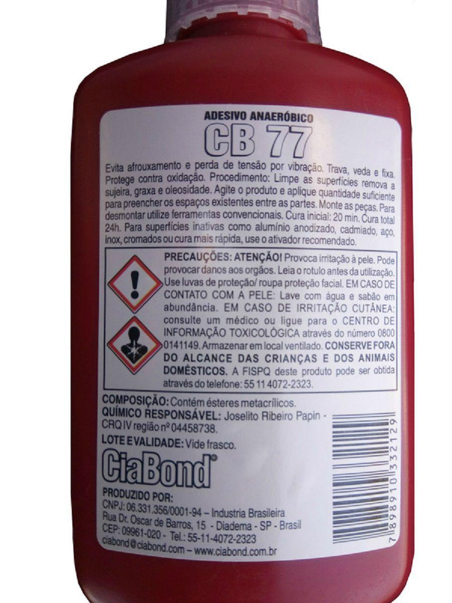 Cola Trava Rosca Alto Torque CB 77 Ciabond 50gs  - Rea Comércio - Sua Loja Completa!