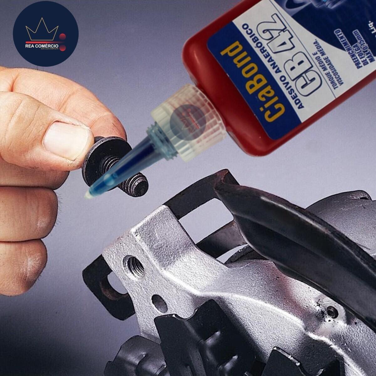 Cola Trava Rosca Baixo Torque Azul CB 42 Ciabond 50gs  - Rea Comércio - Sua Loja Completa!