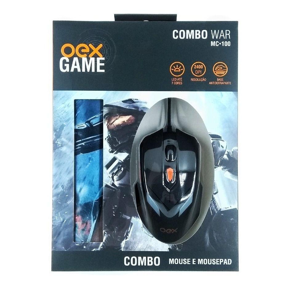 COMBO MOUSE MOUSEPAD WAR OEX-MC100