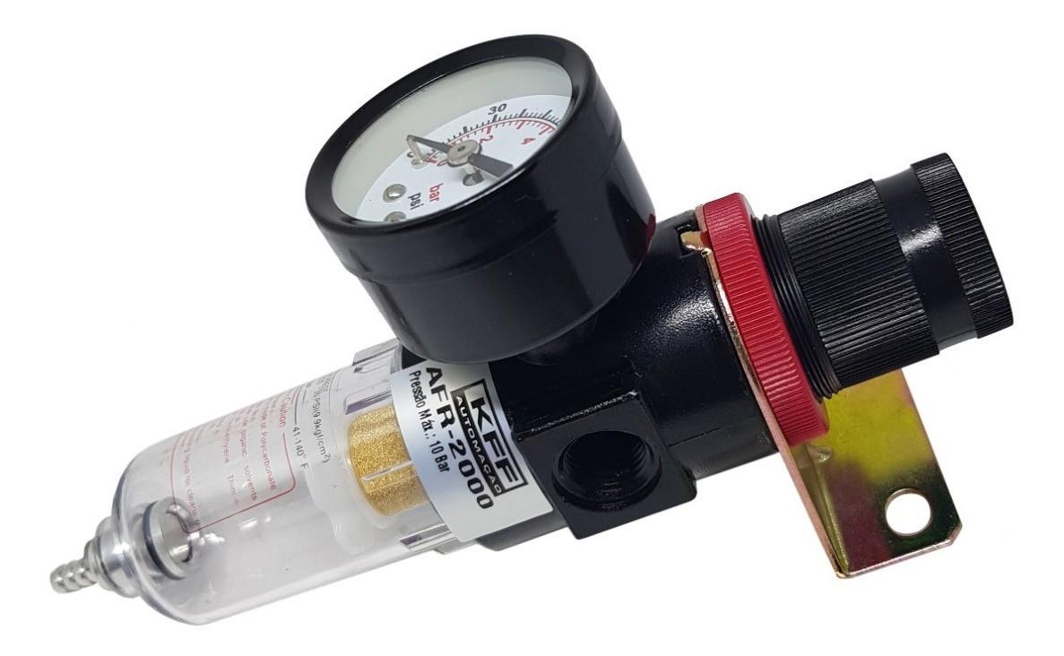 Filtro Regulador De Ar De 1/4 Com Manômetro AFR2000  - Rea Comércio - Sua Loja Completa!
