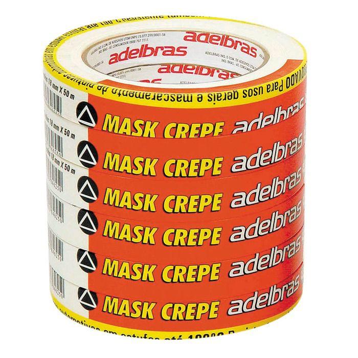 Fita Crepe Mask Aldebras 18mm x 50m  - Rea Comércio - Sua Loja Completa!