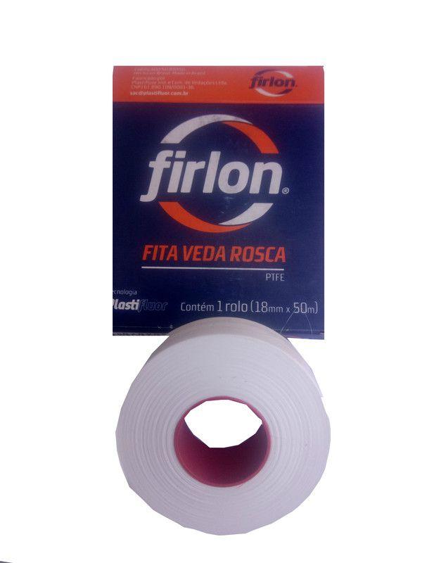 Kit 10 Fita Veda Rosca Conexões Canos Flange Teflon 18mmx50 Metros Firlon  - Rea Comércio - Sua Loja Completa!