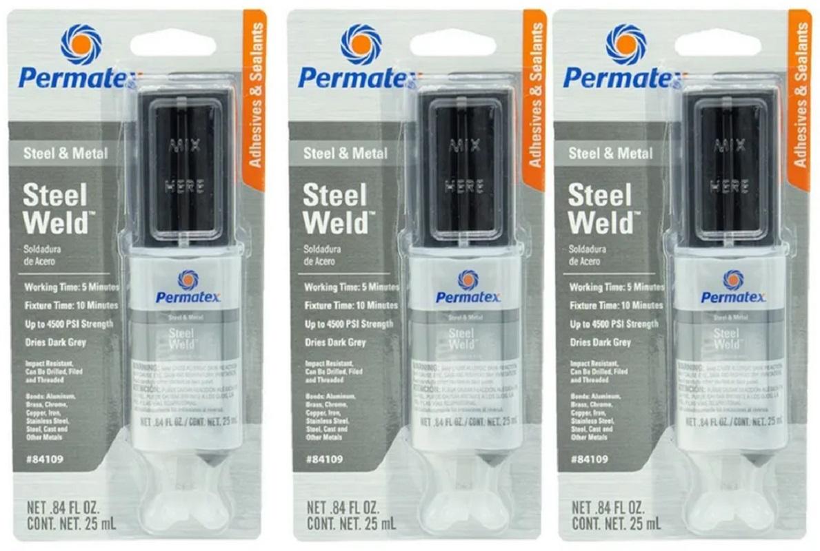 Kit 3 Cola Epoxi Titanium Aço Alumínio Bloco Permatex 25ml  - Rea Comércio - Sua Loja Completa!
