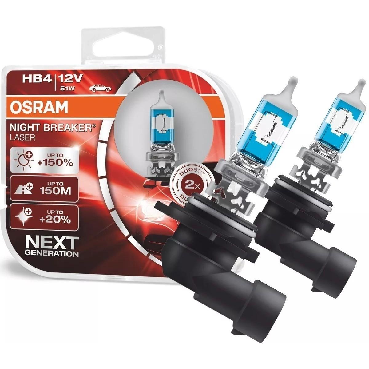 Par De Lampadas Hb4 Osram Night Breaker Laser Super Efeito Xenon 3900k 150% + luz  - Rea Comércio - Sua Loja Completa!